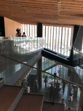 浅草にある浅草文化観光センター、建築家の隈研吾さんの事務所の設計なんです。