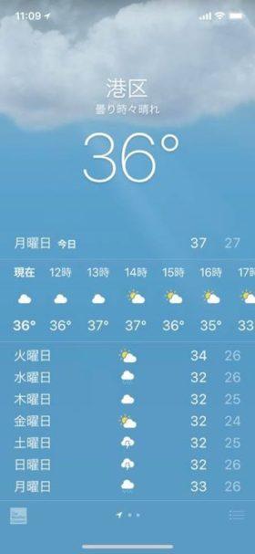 各地で体温より高い日が続いてます。