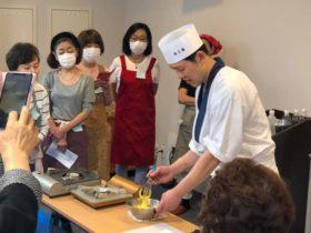 今回の浅草神社和食教室は、海老しんじょうのすまし汁にアサリの佃煮、ふき味噌とご飯!