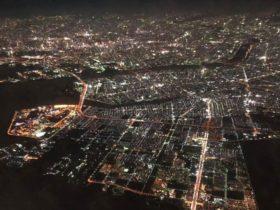 北海道から東京にくると昼間の街は灰色ばかりだと思ったけど、夜は光の海です。